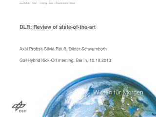 DLR: Review  of state-of-the-art