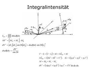 Integralintensität