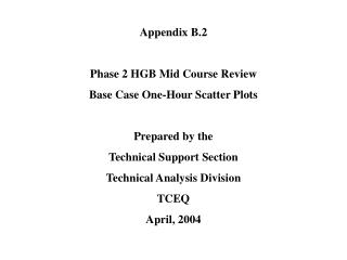Appendix B.2 Phase 2 HGB Mid Course Review Base Case One-Hour Scatter Plots Prepared by the