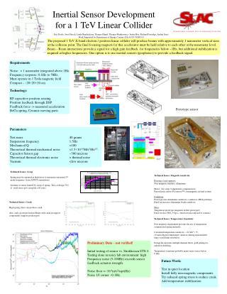 Inertial Sensor Development for a 1 TeV Linear Collider