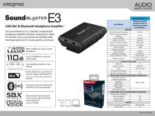 USB DAC &  Bluetooth  Headphone Amplifier