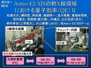 Astro-E2 XIS の軟 X 線領域 における量子効率( QE ) Ⅱ