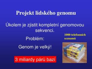 Projekt lidského genomu