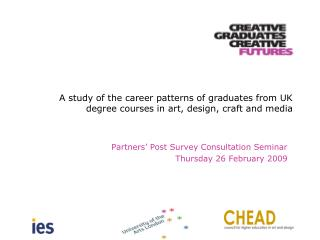 A study of the career patterns of graduates from UK degree courses in art, design, craft and media