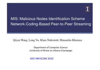 MIS: Malicious Nodes Identification Scheme