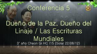 3° año Cheon Gi HC 7/5 (Solar 22/08/12)