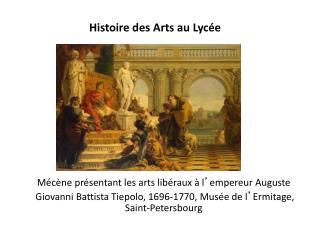 Histoire des Arts au Lycée