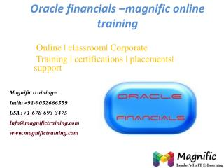 Oracle financials –magnific online training
