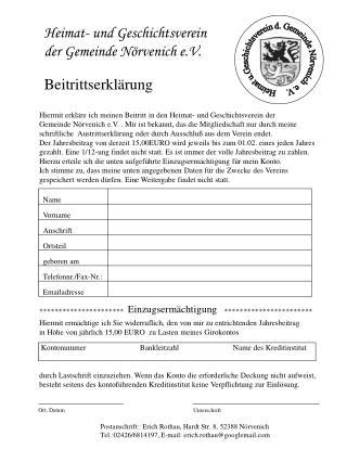 Heimat- und Geschichtsverein  der Gemeinde Nörvenich e.V.