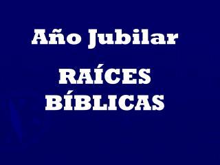 Año Jubilar RAÍCES BÍBLICAS