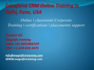 Salesforce Crm Online Training in Delhi,Pune,Usa