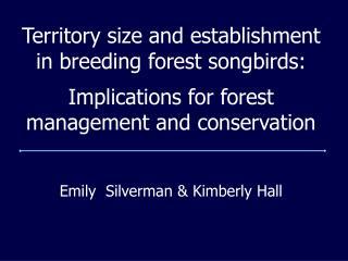 Emily  Silverman & Kimberly Hall