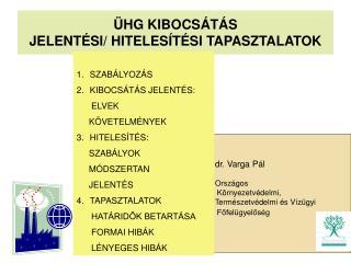 �HG KIBOCS�T�S  JELENT�SI/ HITELES�T�SI TAPASZTALATOK