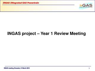 INGAS project – Year 1 Review Meeting