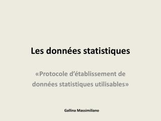 Les donn es statistiques