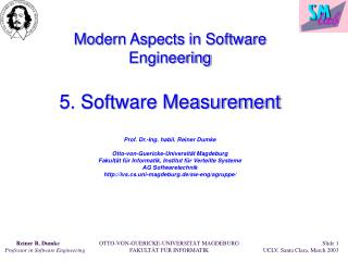 Software Measurement - Introduction