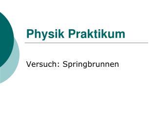 Physik Praktikum