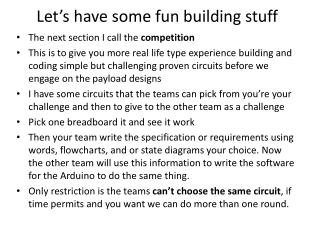 Let's have some fun building stuff