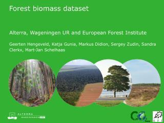Forest biomass dataset