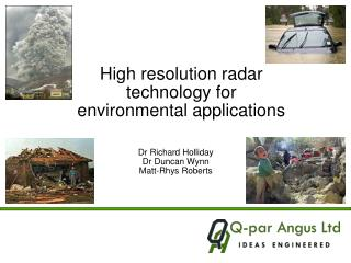 High resolution radar technology for environmental applications