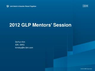 2012 GLP Mentors' Session
