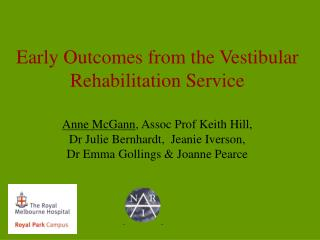 Early Outcomes from the Vestibular Rehabilitation Service