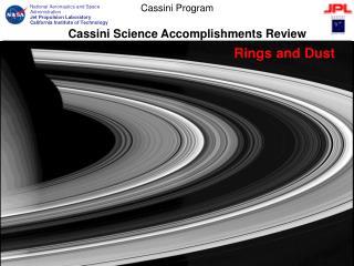 Cassini Science Accomplishments Review