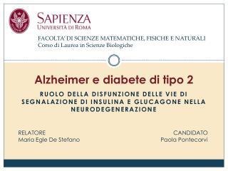 Alzheimer e diabete di tipo 2