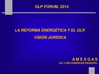LA REFORMA ENERG�TICA Y EL GLP. VISI�N JUR�DICA