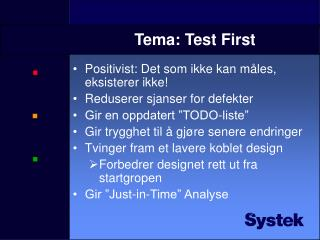 Tema: Test First