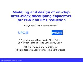 Modeling and design of on-chip  inter-block decoupling capacitors  for PSN and EMI reduction