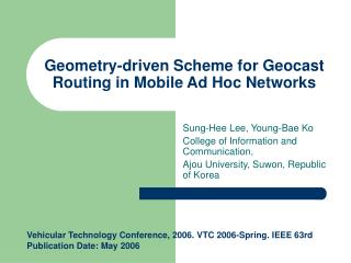 Geometry-driven Scheme for Geocast Routing in Mobile Ad Hoc Networks