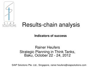 Results-chain analysis