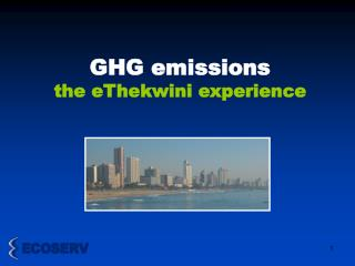 GHG emissions  the eThekwini experience