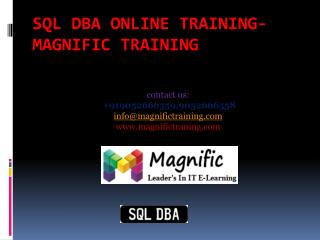 Sql dba online training- magnific training.pptx