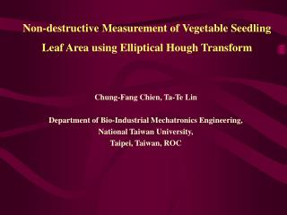 Non-destructive Measurement of Vegetable Seedling Leaf Area using Elliptical Hough Transform