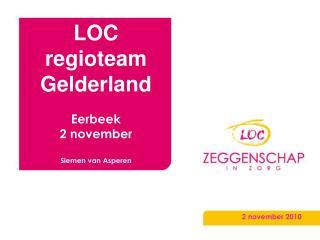 LOC regioteam Gelderland Eerbeek 2 november Siemen van Asperen