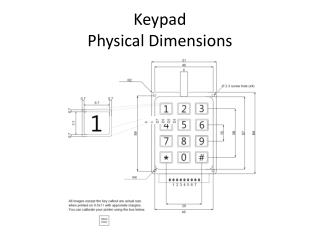 Keypad Physical Dimensions