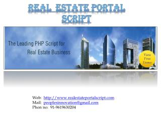 Real Estate Portal Script