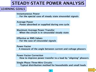 STEADY-STATE POWER ANALYSIS