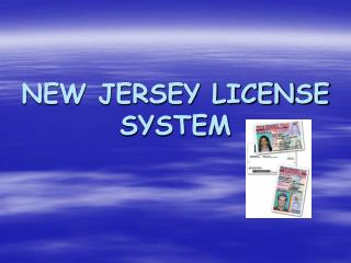 NEW JERSEY LICENSE SYSTEM