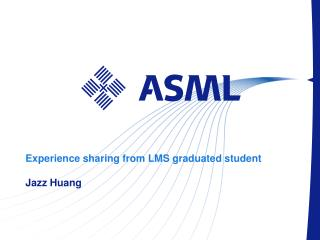 Experience sharing from LMS graduated student