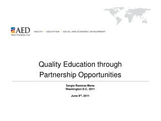 Quality Education through  Partnership Opportunities