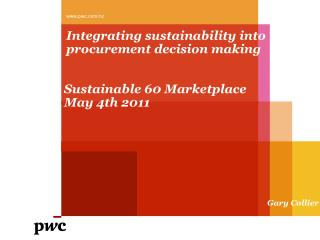 Integrating sustainability into procurement decision making