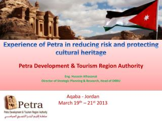 Experience  of Petra in reducing risk and protecting cultural  heritage