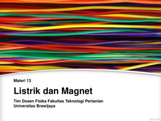 Listrik dan Magnet