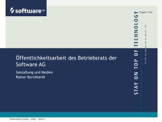 Öffentlichkeitsarbeit des Betriebsrats der Software AG