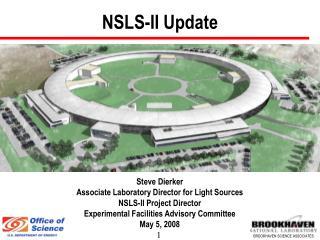NSLS-II Update