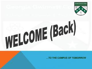 WELCOME (Back)