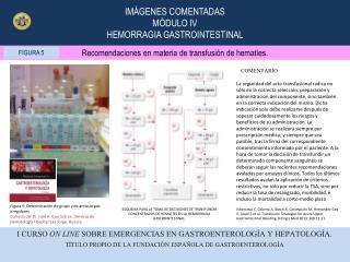 Recomendaciones en materia de transfusión de hematíes.